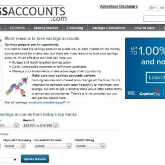 SavingsAccounts.com Redesigned